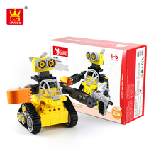 china manufacturer toy truck funny bricks diy robot with low moq