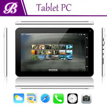 10.1 inch android tablet pc 1024X600 0.3/2.0Mega made in China