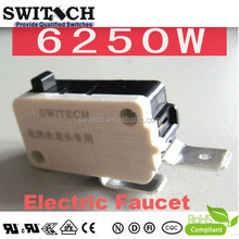 high quality Custom Made Micro switch special for electric faucet 6250W NO SPST Quick-connect Terminals