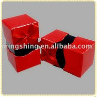 Red wedding paper box / ribbon box