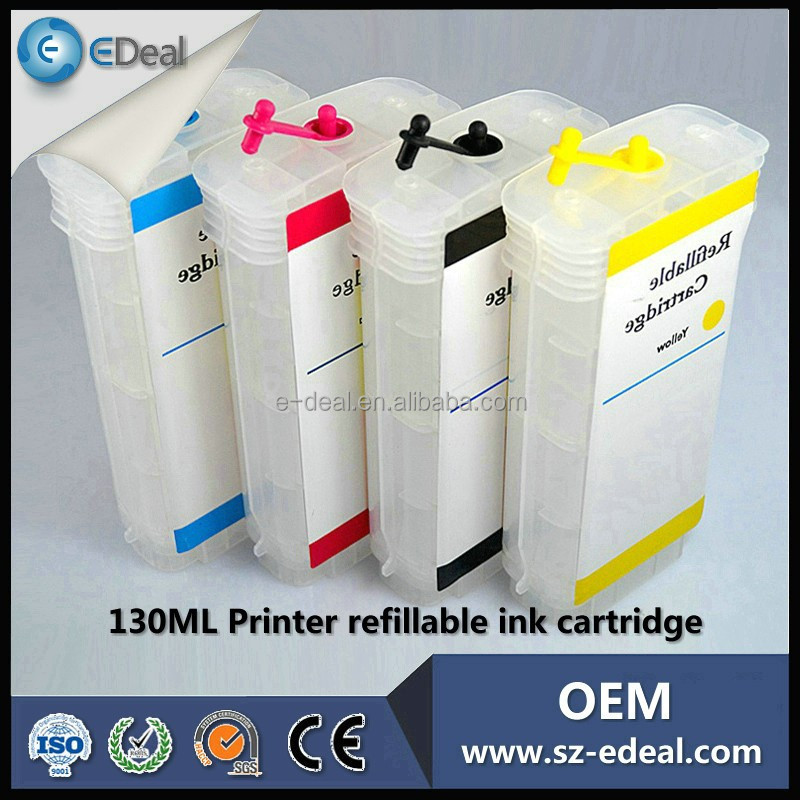 Made in china for HP designjet 500 <strong>100</strong> refill ink cartridge