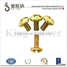 M3*6 Slotted Brass Phillips Cheese Head Machine Screws With Fastener Bolt