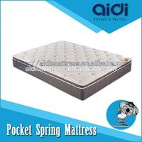 Super Soft Pillow Top Pocket Spring Polyester High Density Foam Mattress AG-1307