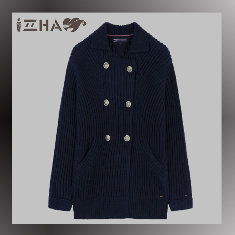 Fashion Plain Dyed Korean Style Women Abaya Girls Cardigan Children Cardigan Black Cardigan Outfits With Double Buttons