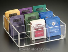 Clear acrylic counter top custom hot sell high quality tea holder/box