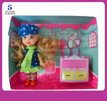 Wholesale Customized New High Quality Small Plastic Toys for Christmas 2015 Lovely Promotional Doll