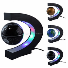 "2018 Hot Gift 3"" C Shape Magnetic Levitating Floating Globe with LED Light"
