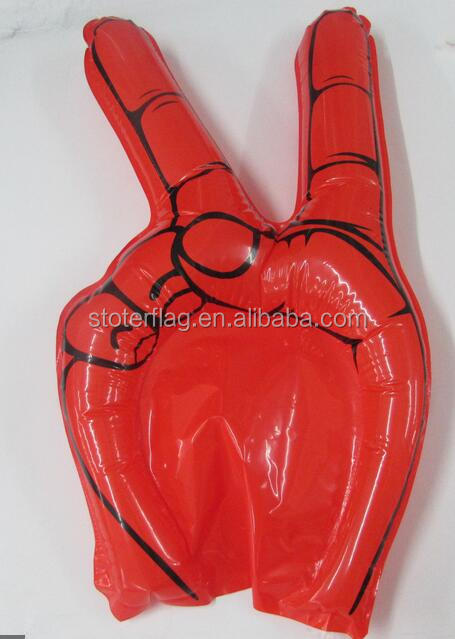 custom cheap PVC Inflatable Cheer Hand for football fans