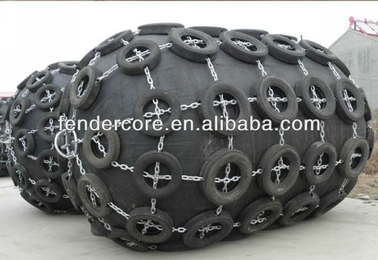 2mdiameter*3.5m lenght pneumatic fender for boat and Offshore marine engineering