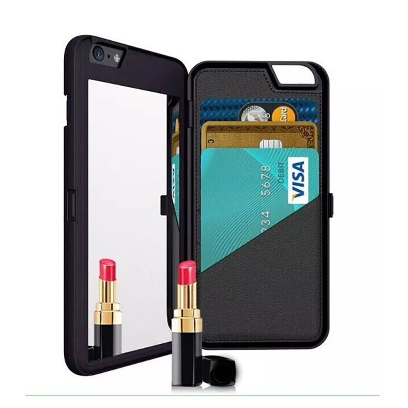 For iPhone 6 /6s Case, Mirror Wallet Case with Stand Feature and Card Holder for Apple iPhone 6/6s