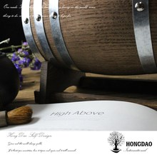 HONGDAO high quality customized burned color oak wooden whiskey barrels for sale