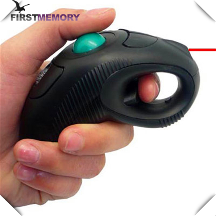2016 new design Laser Pointer Wireless Handheld USB Trackball Mouse