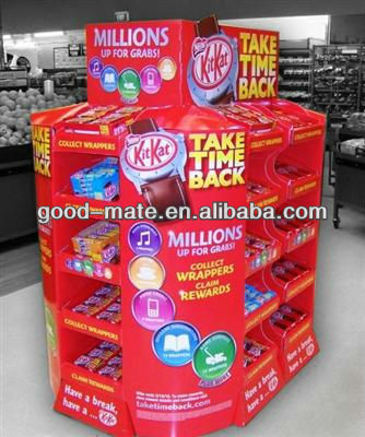 Cardboard Display Shelf Clips for Mall Kiosk Products