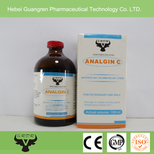 Analgin 25%, Vitamin C 5% injection, antipyretic for cattle,horse,dog.
