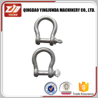 stainless steel shackle D shape Bow shape