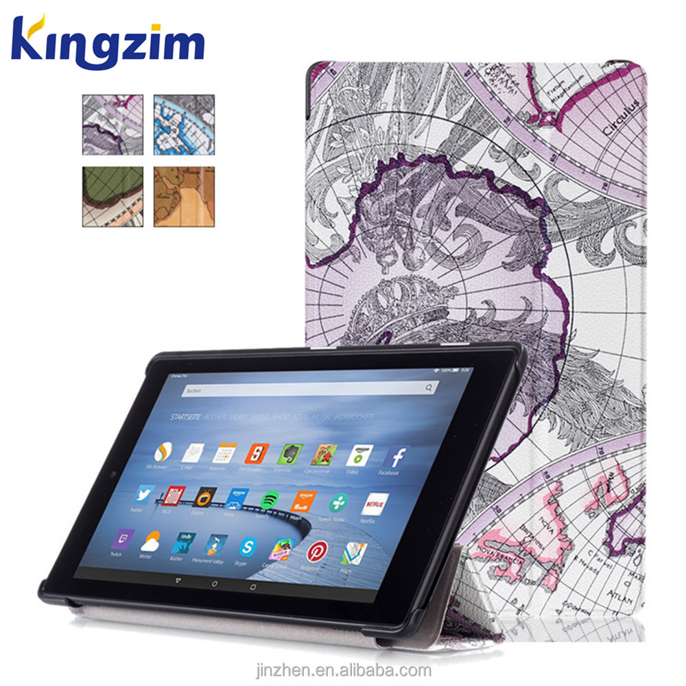 leather case for 10.1 inch tablet pc case cover for New Amazon Fire HD10 2015