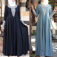 Oem supplying online unique design embellished new style abaya for girl