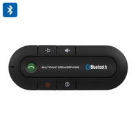 Hands Free Bluetooth Car Kit Speakerphone - Bluetooth 4.0, 600mAh Battery, 20 Hours Talk Time, 1000 Hours Standby