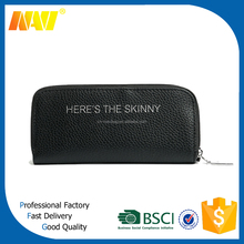 promotional black custom PU leather pencil case with compartments inside