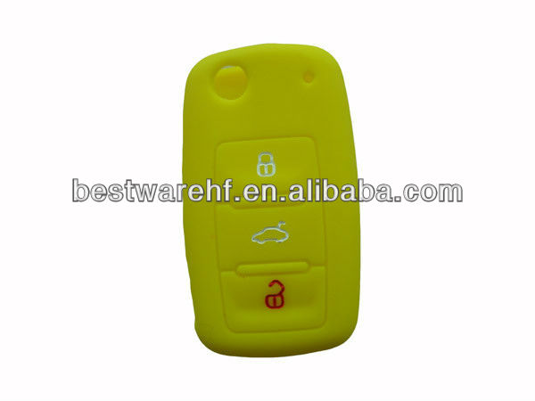 Silicone car key cover for Ford Silicone car keyless remote case shell