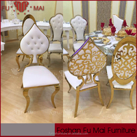 Designs New Model Heart Shaped Gold Wedding Hall Chairs For Bride And Groom