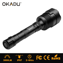 2/3*18650 Rechargeable 3CREE XML T6 LED Heavy Duty Torch Light