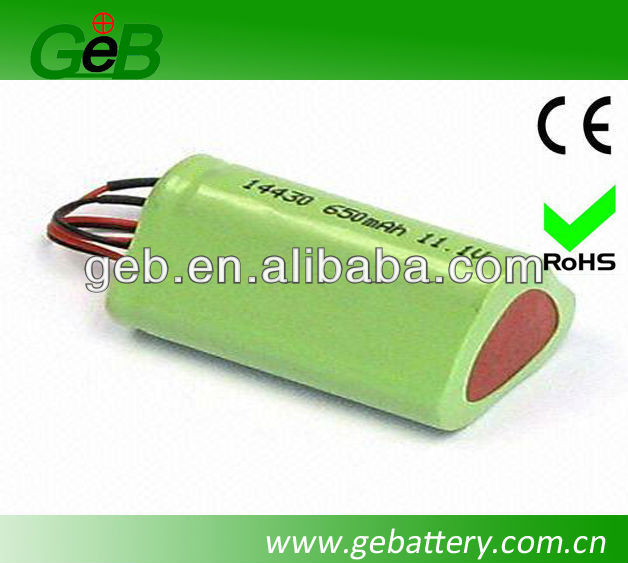 High energy density 650mah 11.1V lithium ion polymer battery pack