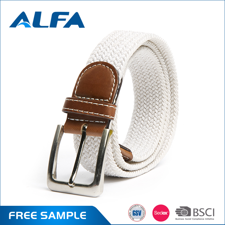 Alfa China Factory Wenzhou PU Belt Factory Elastic Material Fashion Fancy Ladies Belts