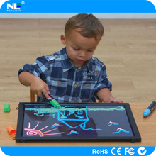 RGB colorful high quality Led Writing Board for kids with remote control