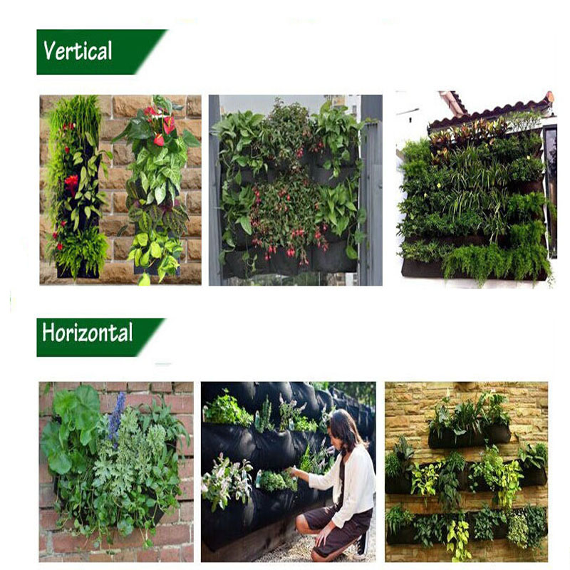 Wholesale 4 pockets felt fabric vertical garden