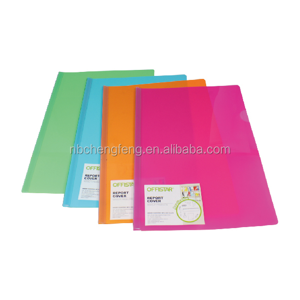 Customized clamp file folder /pp clear clamp file in low price