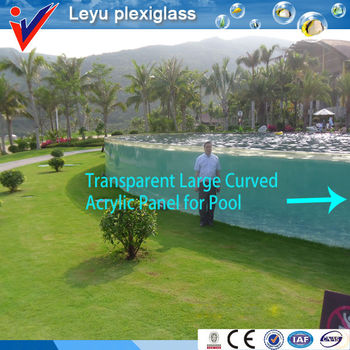 High Quality and Clear Acrylic Sheet Swimming Pool