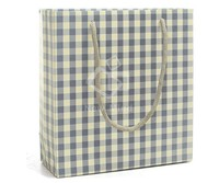Fancy Shopping paper bag child gift bags children party bag with satin bow tie