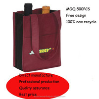 manufacture non woven carry bottle bag