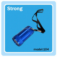 Low price blue color anodized LED mini torches