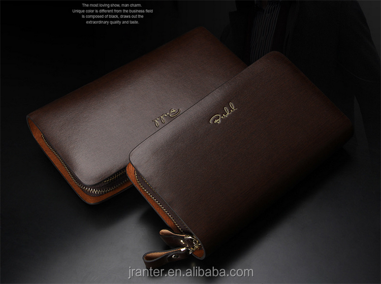 Leisure Multi-card Holder Cowhide Clutch Purse Men Long Genuine Leather Wallet for men