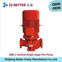 2hp XBD-L vertical fire pump ul fm /high pressure water pump for fire engine/fire fighting pumps