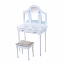White Antique Kids Makeup Cupboard Art Hotel Dressing Table