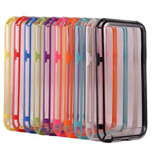 Middle Transparent TPU Silicone Rubber Bumper Frame Case Cover For SAMSUNG Galaxy Note 2 II N7100