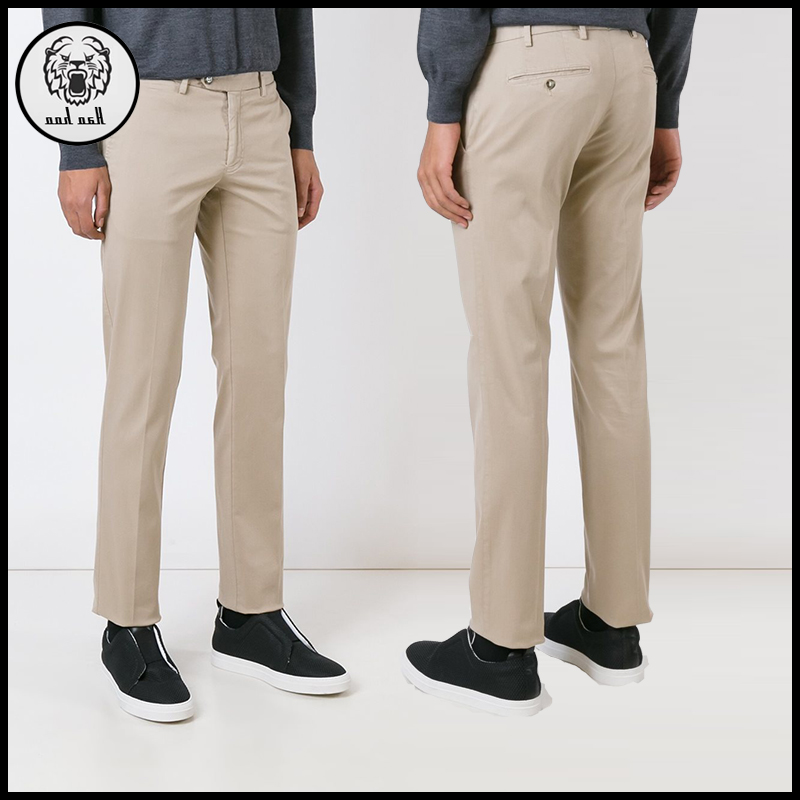 New design men skinny casual khaki pants blank chino pants trousers