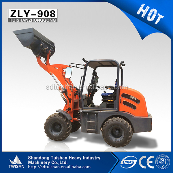 Farm machinery China mini red tractor front end loader