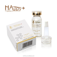 100% natural extraction Happy+ QBEKA synthetic peptide snake venom serum instant face lift serum anti wrinkle gold serum