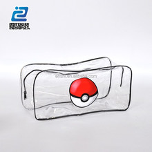 Fashionable soft case girls clear pouch mesh cosmetic bag