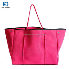Womens extra large zip up stylish beach neoprene tote bag