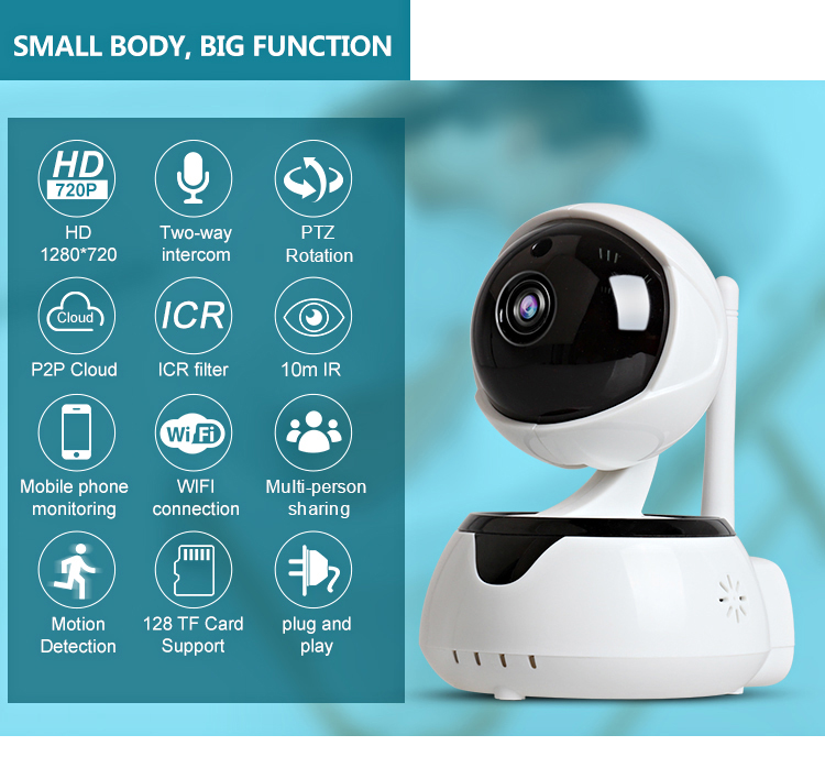 LOOSAFE 720P Hd Wifi P2P IP Camera Two Way Audio
