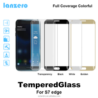 Colorful Full Coverage Tempered Glass Screen Protector For Samsung Galaxy S7 edge full cover colorful Anti-Scratch 9H 0.33mm