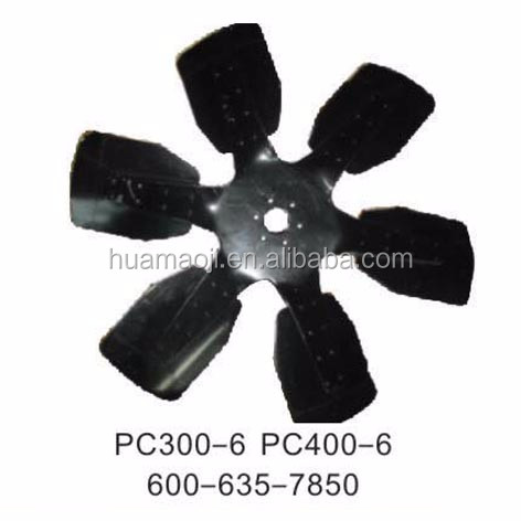 pc300-6 Excavator hydraulic oil Cooling Fan,excavator inter cooler 600-635-7850
