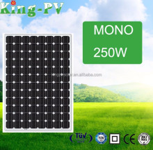 High Efficiency monocrystalline solar cell factory direct solar panel for sale long Life span high quality 250w solar panels