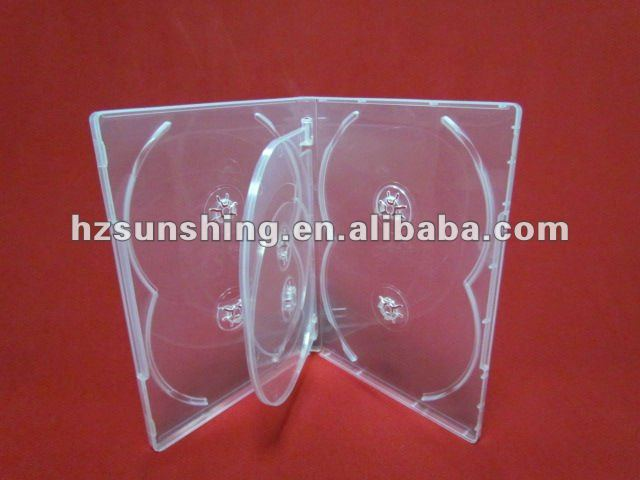 14mm clear 6discs dvd case