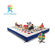 Hot sale custom outdoor giant large inflatable twister game mat for kids adult